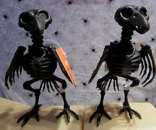 2  Skeleton Black Crow Bones Life Size Horror Statue Halloween Prop Gag