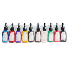 Pro 10 Color 1/2 oz Tattoo Ink Pigment Set for Tattoo Machine Complete Kit