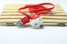 Hello Kitty Samsung LED Kabel leucht Ladekabel u. v. a. Handy Modelle neu