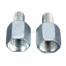 Thread Reducer M10 10mm to 8mm M8 Motorcycle Mirrors Converter Adaptor Chrome