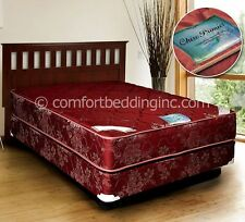 Chiro Premier Orthopedic Red FIRM VERSION Full Size Mattress and Box Set