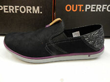 MERRELL WOMENS SHOES DUSKAIR MOC SMOOTH BLACK SIZE 7.5