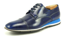 Prada New Mens Shoes Size 6, 7 Leather Sport Sneaker Oxfords Blue