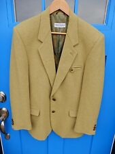 Umberto Bilancioni Sz 50 Mens Green Wool Blazer Jacket Sport Coat Unique Fabric