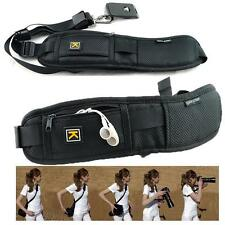 Single Shoulder Sling Black Belt Strap for DSLR Digital SLR Camera Quick Rapid