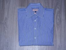 Thomas Pink Slim Fit Mens Dress Shirt Sz 15-35 Blue/White Striped
