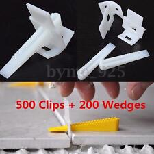 200 Wedges + 500 Clips Tile Leveling Spacer Flooring System Construction Lippage