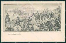 Militari Dragoni di Piemonte Nizza Cavalleria I Reggimento cartolina QT7940