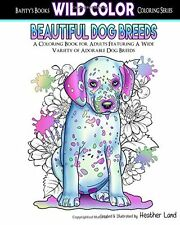 Beautiful Dog Breeds:Adult Coloring Book(Volume2) by Heather Land (Paperback)DTF