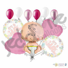 11 pc It's a Girl Balloon Bouquet Decoration Baby Welcome Home Shower Born Pink