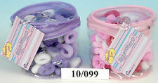 100 X GIRLS HAIR BANDS KIDS ELASTIC BOBBLES TODDLER CHILDREN ASSORTED STRETCHY