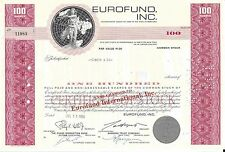 EUROFUND INC...........1969 STOCK CERTIFICATE