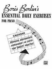 Essential Daily Exercises for Piano, Boris, Berlin, New Books