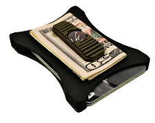 Olive-Drab on Black, Front pocket wallet, Thin Wallet, The best wallet
