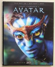 Avatar 3D Blu Ray Lenticular Slipcover (No Movie Disc!) See Detail Below