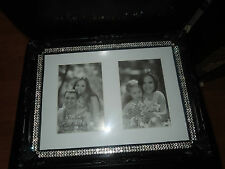 NEW Large Black Diamante Crystal Rhinestone Vintage Collection Photo Frame BLING