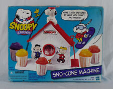 Snoopy & Friends Sno Cone Machine Peanuts Gang Vintage Hasbro