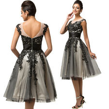 Stock UK SIZE 18 Short Formal Evening Dress Cocktail Party Ball Gown Dress 2017