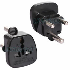 UK EU US Travel Trip Plug Adapter to Type M Grounded Socket Big South Africa ZA