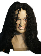 1980'S-Slash-Hard Rocker-Jackson-Infantry-MUSKETEER BLACK CURLY WIG-Fancy Dress