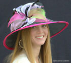 NEW Women's ORGANZA Kentucky Derby Hat With Multicolored Petals STUNNING