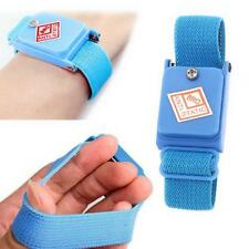 Blue Cordless Wireless Anti Static ESD Discharge Cable Band Wrist Strap Slim N