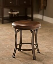 Hillsdale 50975 Hastings Backless Vanity Stool (Antique Bronze/Antique Brown)