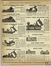 1892 PAPER AD Bailey Adjustable Planes Iron Fore Plane Leader Buck Saw