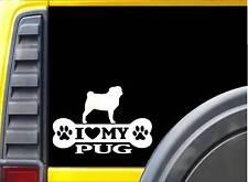 Pug Bone L093 8 inch Sticker pug dog decal
