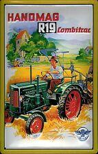 Blechschild Hanomag Combitrac R19 Traktor Nostalgieschild vintage Schild