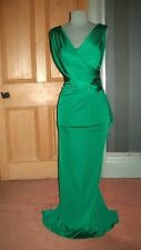 GORGEOUS JENNY PACKHAM LONG EMERALD GREEN EVENING DRESS, SIZE 12