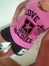 Victoria's Secret Pink United States U S Army Soldier Military Tee Sweats Short