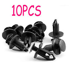 10X Auto Car Fender Retainer Plastic Clips Fastener Rivet Black For Toyota Lexus