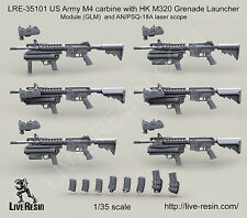 Live Resin 1/35 LRE-35101 US Army M4 with HK M320 GLM and AN/PSQ-18A Laser Scope