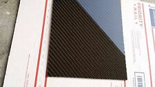 "Real Carbon Fiber Fiberglass Panel Sheet 6""×18""×3/32"" Glossy One Side"