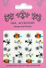 NEU: 20 Halloween Water Nail Sticker Tatoo W20