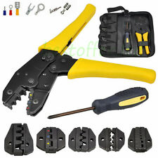 Ratcheting Terminal Crimper Tool Set for Insulated  Non-insulated Wire-electrode