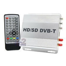 In Car DVB-T HDMI Digital TV Dual DVB Tuner Freeview Receiver Box Antenna MPEG4