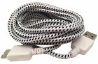 Samsung Galaxy Note 3 III S5 Braided USB 3.0 Charging Cord Cable Long 10 FT