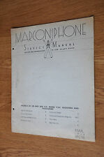 Marconiphone Model 237 238 & 245 mains radiogram Genuine Service Manual