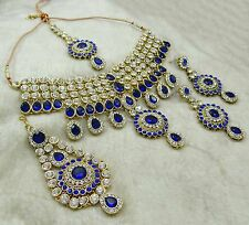 Traditional Indian Bollywood Goldtone 4 PC Necklace Set Women Wedding Jewelry