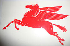 "PAIR OF MOBIL PEGASUS  DECALS  EACH 4""   MOTOR BIKE HELMETS IOM TT RACING CARS"