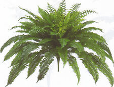 "BOSTON FERN 48"" SPREAD X 90 LEAF BUSH PLANT ARTIFICIAL FLOWER TREE PALM IVY SILK"
