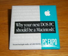 """Vintage Apple Badge - """"Why your next DOS PC should be a Macintosh"""""""