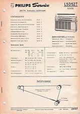 Manuel d'instructions Service pour Philips L5 D52 T,Annette