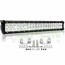 126W 20Inch Led Light Bar Flood Spot Work Driving Offroad 4WD Truck Atv Ute 120w