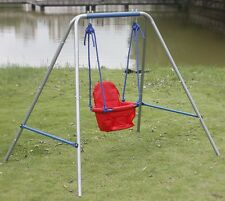 HLC Indoor Outdoor Adjustable Baby Swing With Seat Metal Stand Kid Birthday Gift
