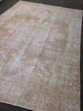 "Authentic Vintage Persian Area Rug 7'.4"" X 11' Oushak Muted Pastel Woven L.Brown"