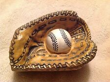 Vintage Inarco Ceramic Baseball Catcher's Mitt & Ball Planter E3756 Japan AS IS