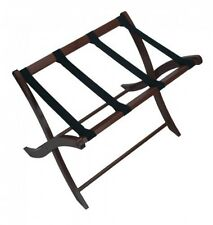 Winsome Folding Wood Luggage Rack, Classic Hotel Suitcase Stand, Walnut, New